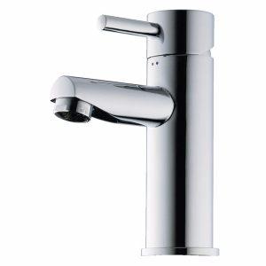 Børma A1 Håndvaskarmatur stainless look 1-grebs med bundventil