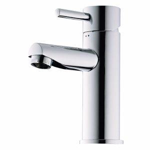 Børma A1 Håndvaskarmatur stainless look 1-grebs uden bundventil