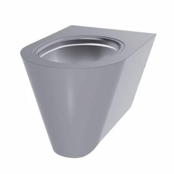 CMA Væghængt toilet rustfrit stål poleret satin finish. Mål: 535 x 360 mm / H: 350 mm