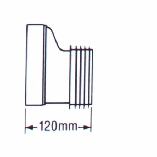 Combi Kloset-tilslutning Udv.97-100 mm Excentrisk