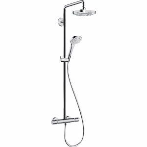 Croma Select E180 2jet Showerp Showerpipe krom/hvid HG nr. 27256