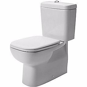 D-Code toiletskål Back-to-wall hvid DURAVIT 355x650mm skjult lås porcelæn