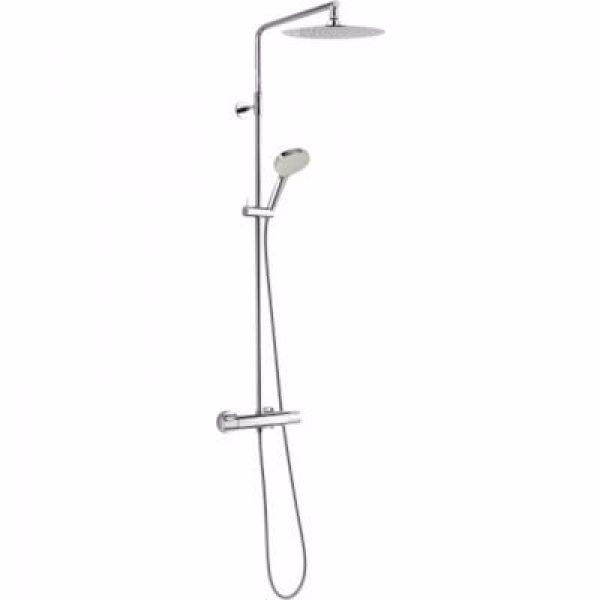 Damixa silhouet brusesystem inklusiv termostat, Ø 250mm hovedbruser & håndbruser. Krom