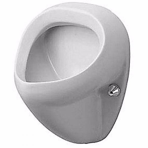 Duravit Bill Urinal. Vandtilslutning bagfra. Med flue. Wondergliss Hvid