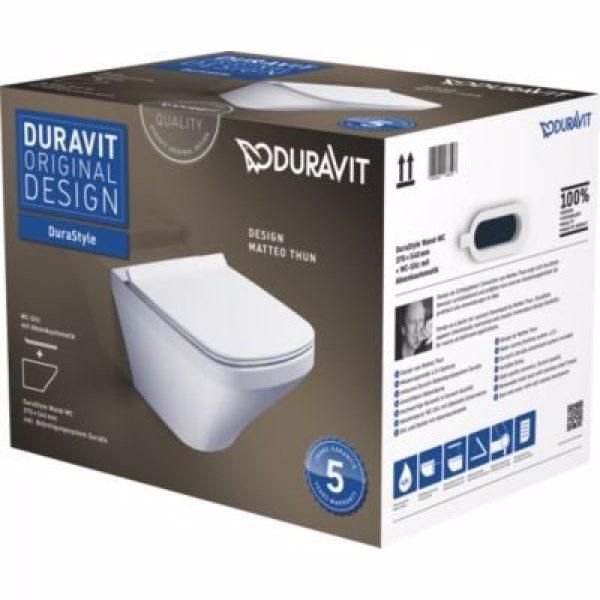 Duravit DuraStyle vægtoilet 640x460x400mm m/sæde m/softclose