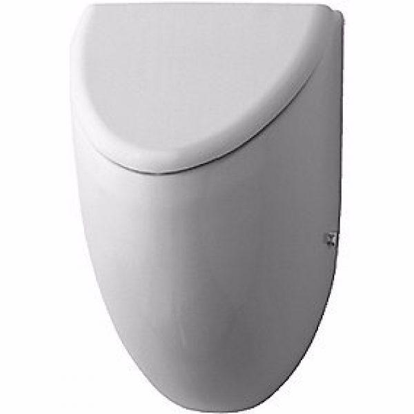 Duravit Fizz urinal. Vandtilslutning bagfra. Model til låg. Hvid