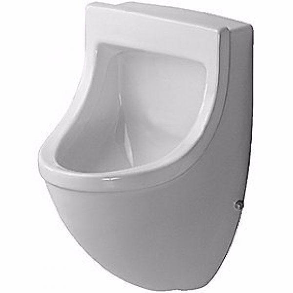 Duravit Starck 3 Urinal. Vandtilslutning bagfra. Med flue. Wondergliss Hvid