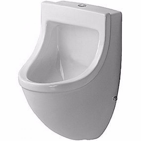 Duravit Starck 3 Urinal. Vandtilslutning fra oven. Med flue. Wonderglis Hvid