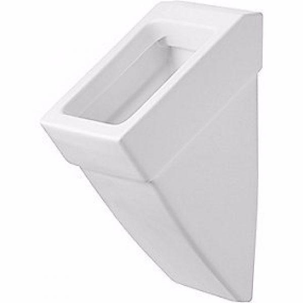 Duravit Vero Urinal med vandtilslutning bagfra. Wondergliss, Hvid