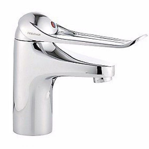 FMM håndvaskarmatur rehab Koldtstart, softclosing, 6 l/min, greb: 150 mm.
