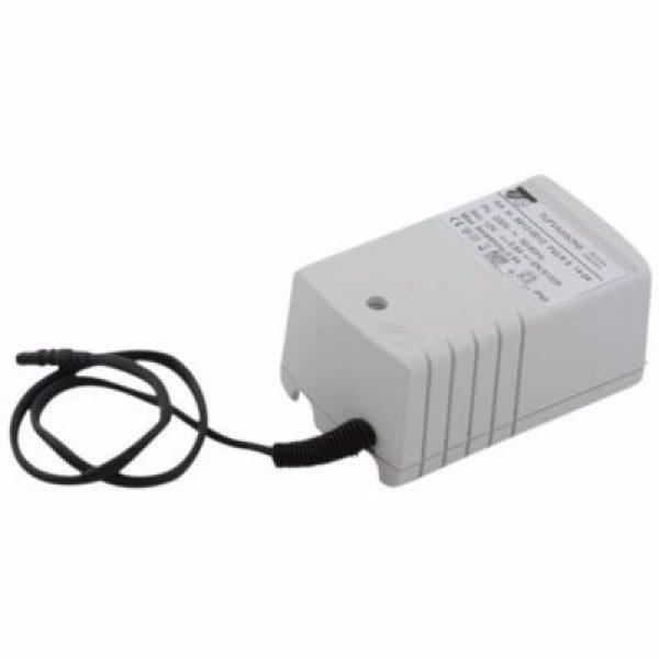 FMM/mora Tronic transformer til netdrift. Til 9000E Tronic. Ledningslængde 50 cm. 12 volt dc - 7w