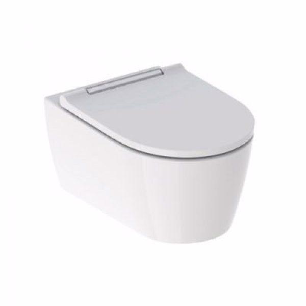 Geberit ONE hængeskål & sæde 370x343x540mm, hvid/forkromet