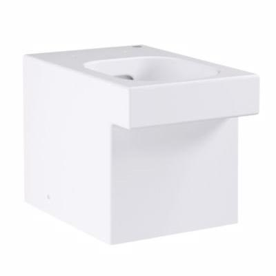 Grohe Cube Ceramic fritstående toilet skål. Åben skyllerende. Pureguard glasering
