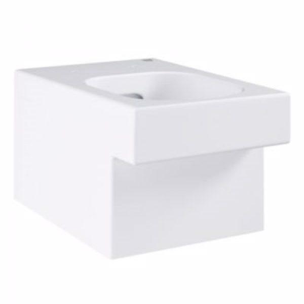 Grohe Cube Ceramic hængeskål til indbyggede cisterner, P-vandlås, Kantløs