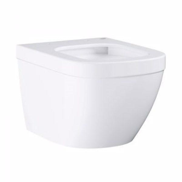 Grohe Euro Ceramic kompakt hængeskål med pureguard belægning. Åben skyllerende