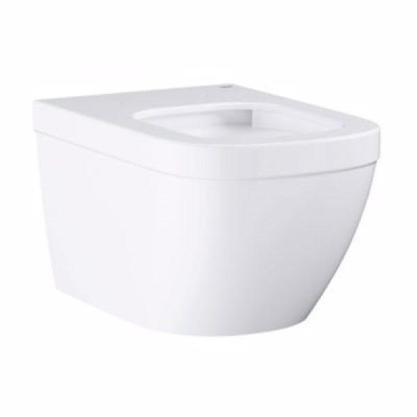 Grohe Euro keramik hængeskål. Med åben skyllerende. Hvid