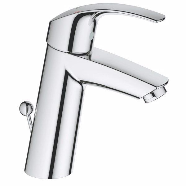 Grohe Eurosmart etgrebsarmatur til håndvask. Med bundventil. Mellemhøj tud. Krom