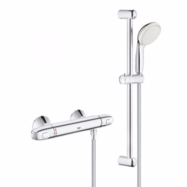 Grohe Grohtherm 1000 New Termostatarmatur & brusesæt 600mm stang