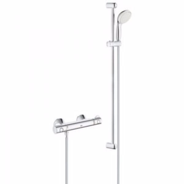 Grohe Grohtherm 800 termostatarmatur med brusesæt 900mm stang. Krom