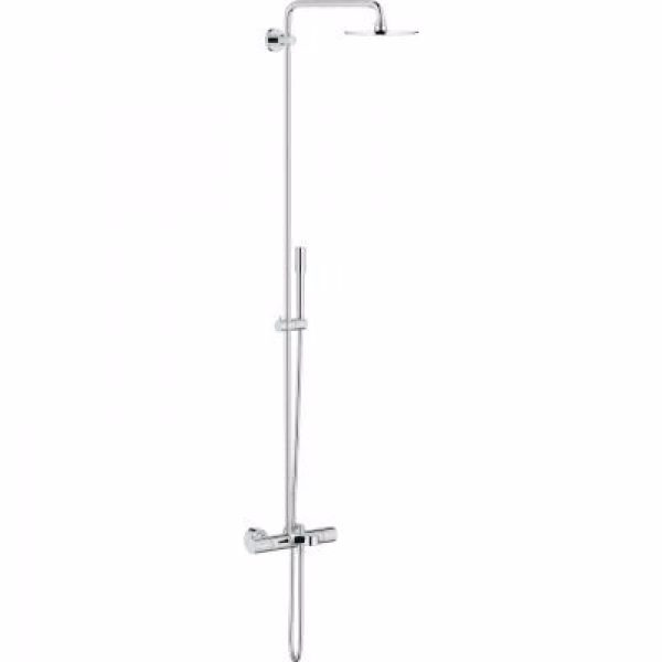 Grohe Rainshower System 210 Brusesystem med termostat til vægmontering. Krom