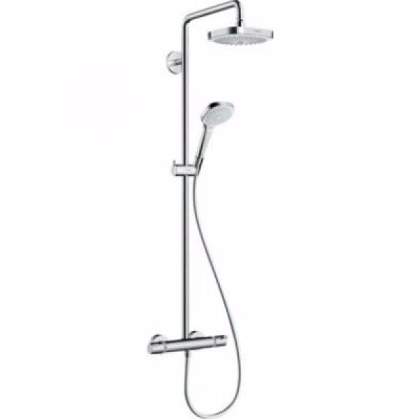 Hansgrohe Croma Select E 180 2jet Showerpipe EcoSmart 9 l/min. hvid/krom