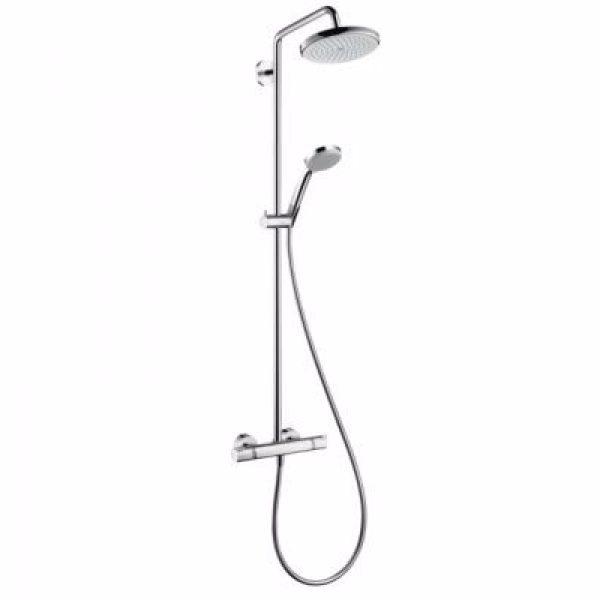 Hansgrohe Croma showerpipe Ø220mm. Krom