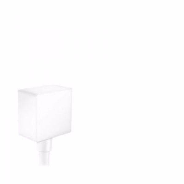 Hansgrohe FixFit Square slangeudtag med kontraventil, Mat hvid