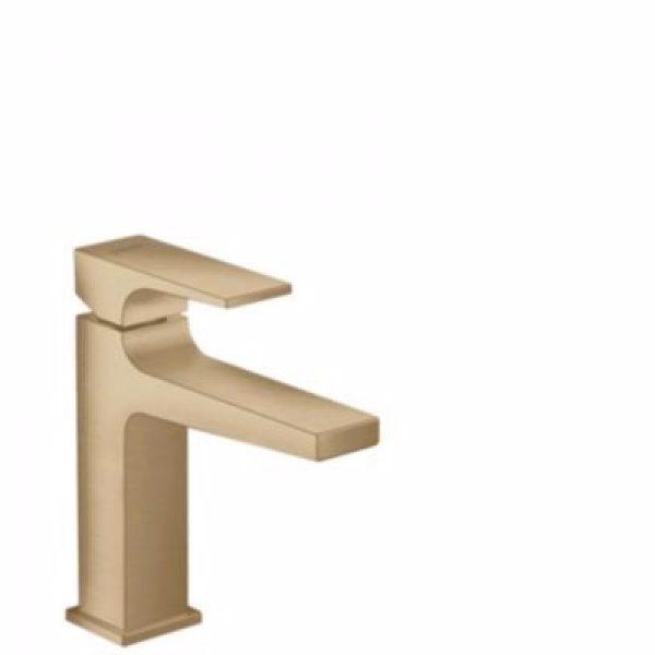 Hansgrohe Metropol 110 Håndvaskarmatur med push-open bundventil Børstet bronze
