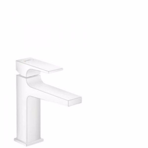 Hansgrohe Metropol 110 Håndvaskarmatur med push-open bundventil Mat hvid