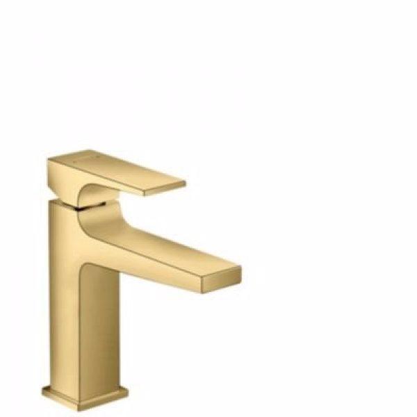Hansgrohe Metropol 110 Håndvaskarmatur med push-open bundventil Poleret guld-optik