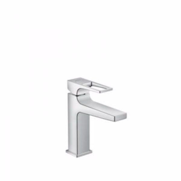 Hansgrohe Metropol 110 håndvaskarmatur med bøjlegreb & push open bundventil. Krom