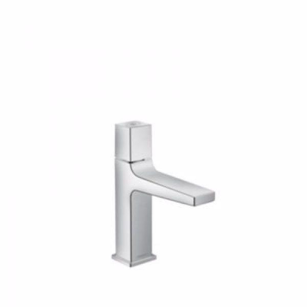 Hansgrohe Metropol Select 110 håndvaskarmatur tryk på select knap for at åbne/lukke. Med push o