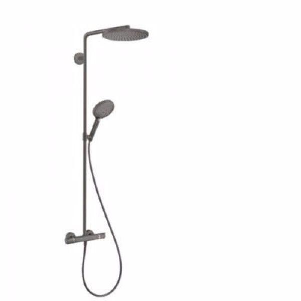 Hansgrohe Raindance select S 240 PowderRain showerpipe 1jet, Børstet sort krom