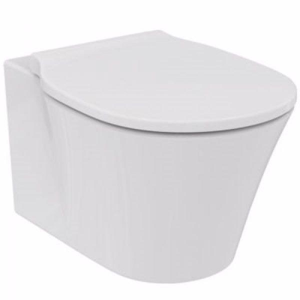 Ideal Standard cair vægskål Aquablade. Hvid, med Softclose sæde model wrap