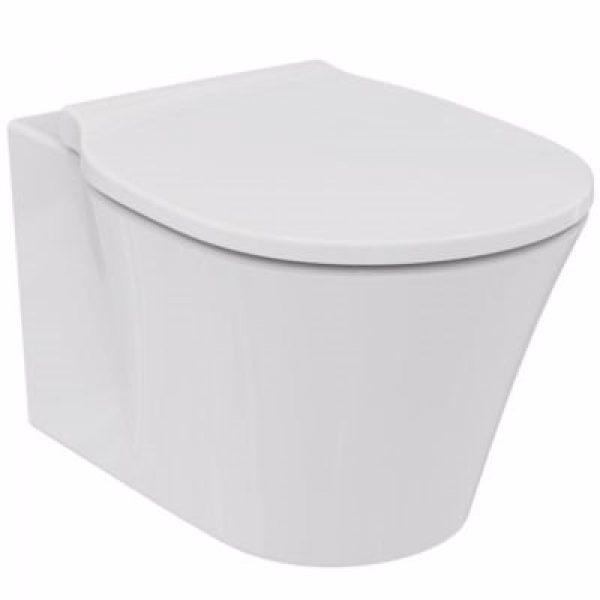 Ideal Standard vægskål rimless Connect air. Hvid, med Softclose sæde model wrap