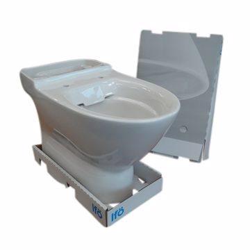 Ifö Spira Art toiletskål med lukket S-lås. Til limning. Rimfree