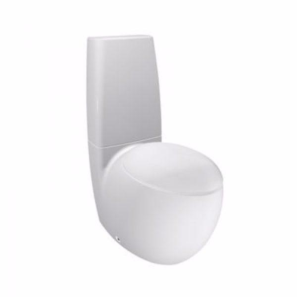 Laufen Alessi One toiletskål skjult lås hvid porcelæn med LCC. Uden cisterne