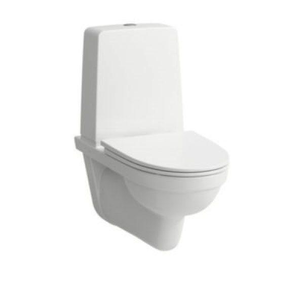 Laufen Kompas Vægh WC m/ciste Rimless skylleteknik og med synlig cisterne