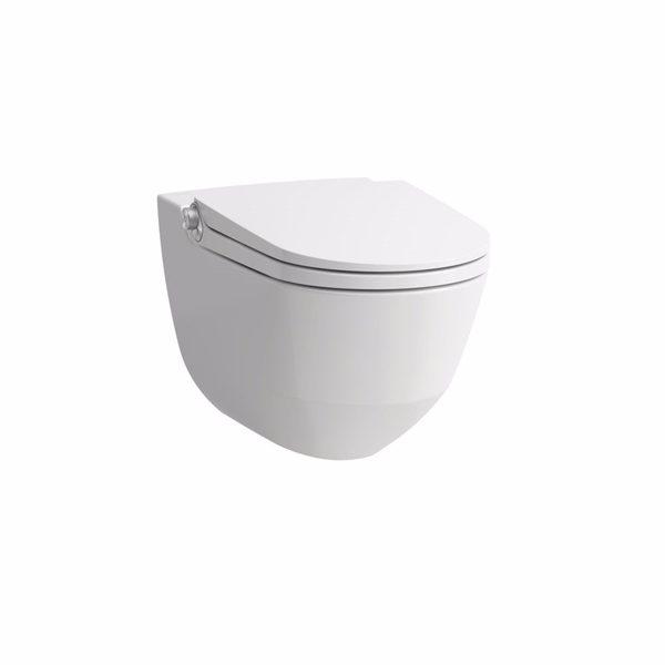 Laufen Riva dusch toilet LCC, Åben skyllerende. Med softclose sæde med trådløs lift-off functi