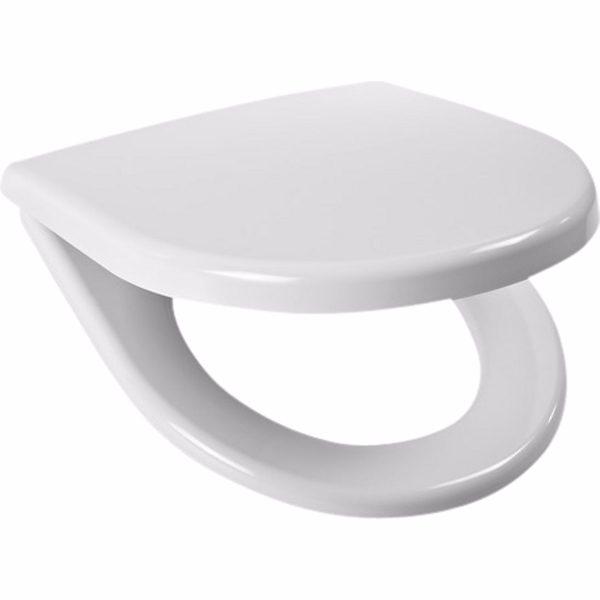 Laufen lyra plus toiletsæde med faste beslag & softclose, hvid