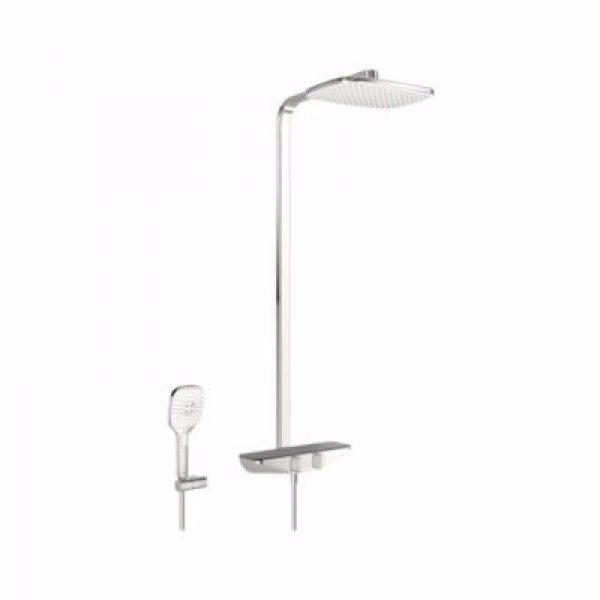 Oras Esteta Rainshower Termostatisk brusersystem med hovedbruser :360x220mm, håndbruser. Grå