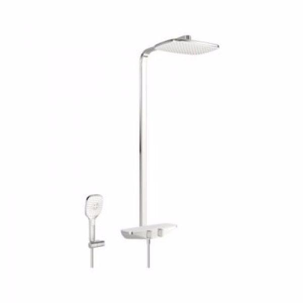 Oras Esteta Rainshower Termostatisk brusersystem med hovedbruser 360x220mm, håndbruser. Hvid