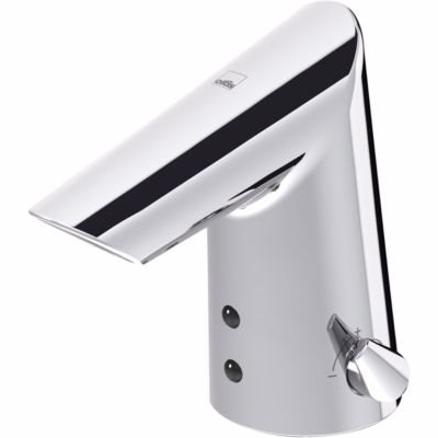 Oras Optima håndvaskarmatur berøringsfri med Bluetooth & temperaturgreb, 6V. Krom