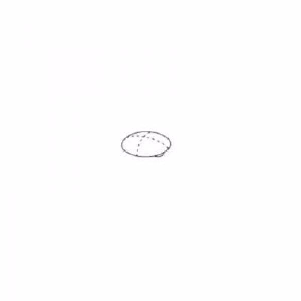 Pressalit Buffe, hvid 6 mm