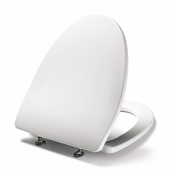 Pressalit Cera+ sæde med softclose, D03 fast beslag, hvid