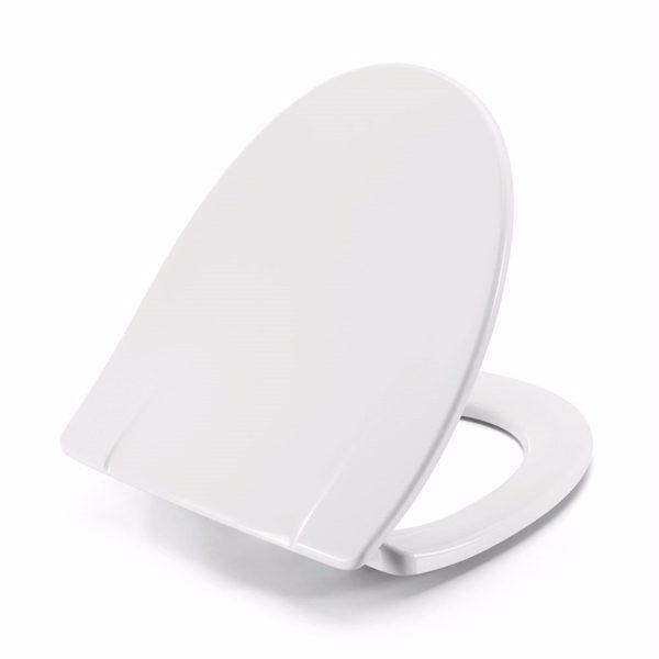 Pressalit Sign 554 Toiletsæde inkl. fast beslag i rustfrit stål. Hvid
