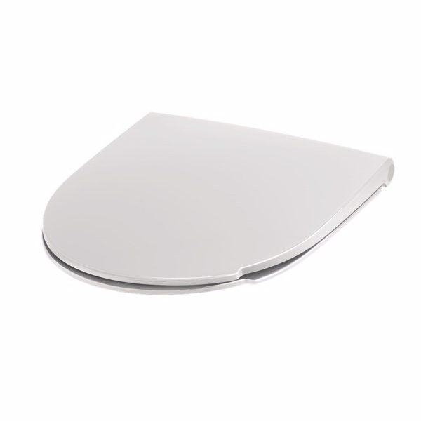 Pressalit Spira Art 940 toiletsæde med softclose og quick release. Inkl. beslag i rustfrit stål.