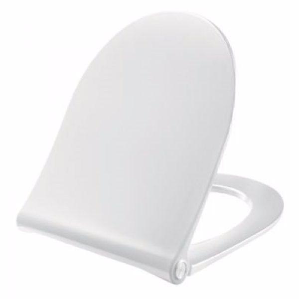 Pressalit Sway D2 994 toiletsæde med soft close og lift-off inkl. beslag i rustfrit stål. Hvid