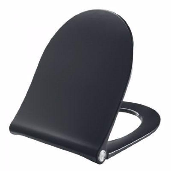 Pressalit Sway D2 994 toiletsæde med soft close og lift-off inkl. beslag i rustfrit stål. Sort