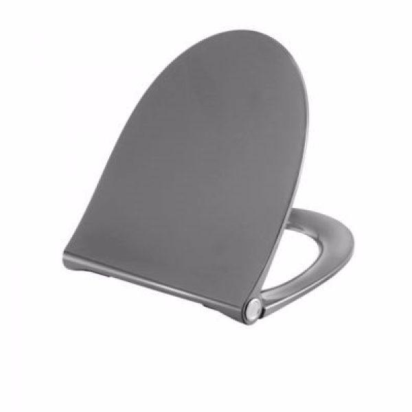 Pressalit Sway Norden toiletsæde med soft close og lift-off. Antracitgrå. Passer til Nautic, sig